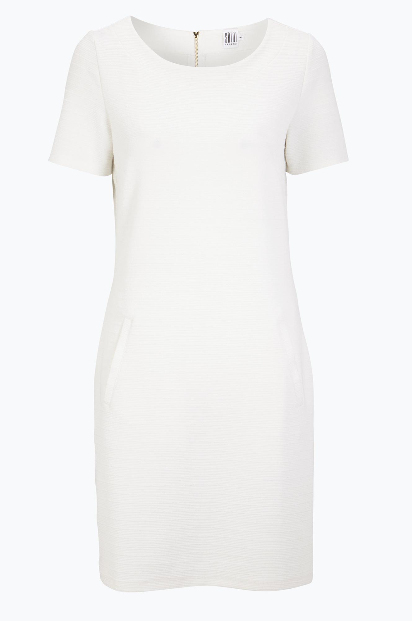 enkel vit klänning