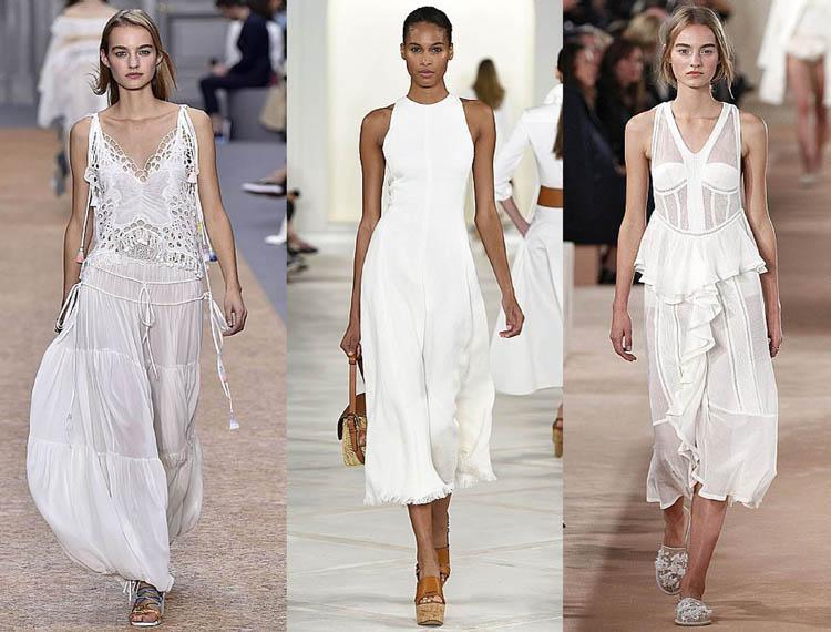 vit romantisk klänning