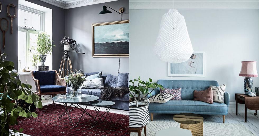 Splitter nya Så kan du styla den blå soffan – 11 fina sätt   Femina JY-16