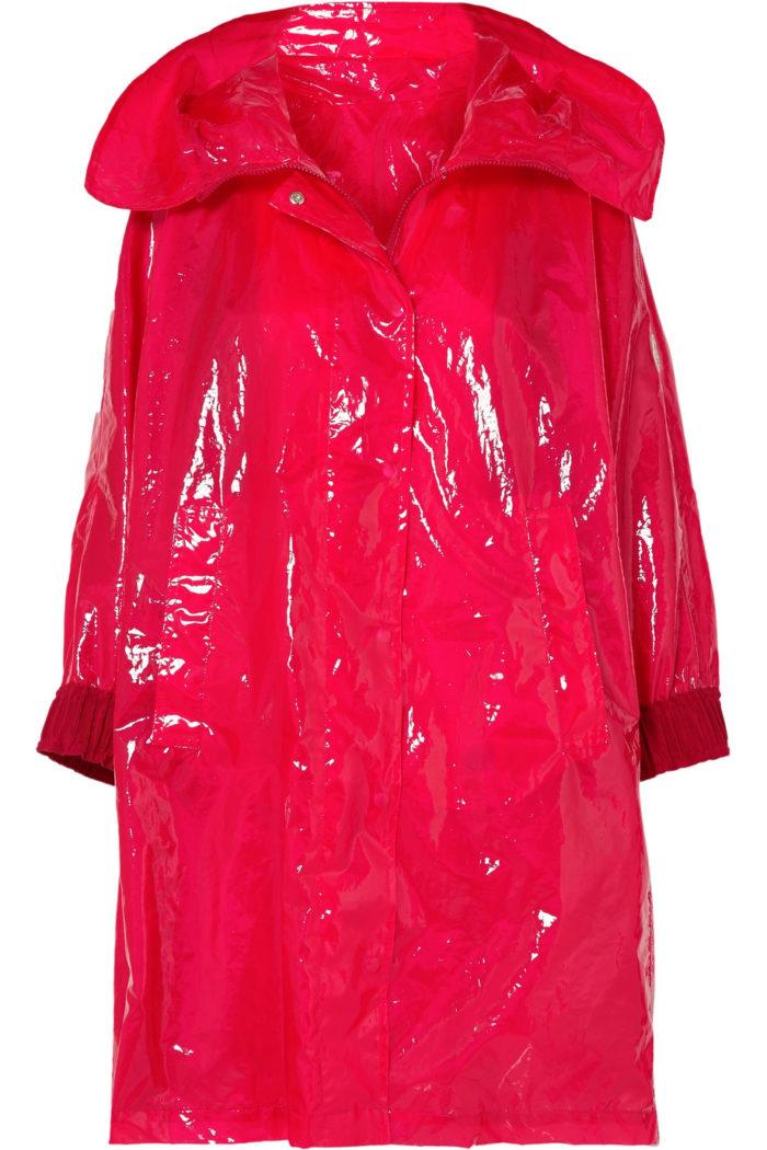Röd regnkappa från Moncler