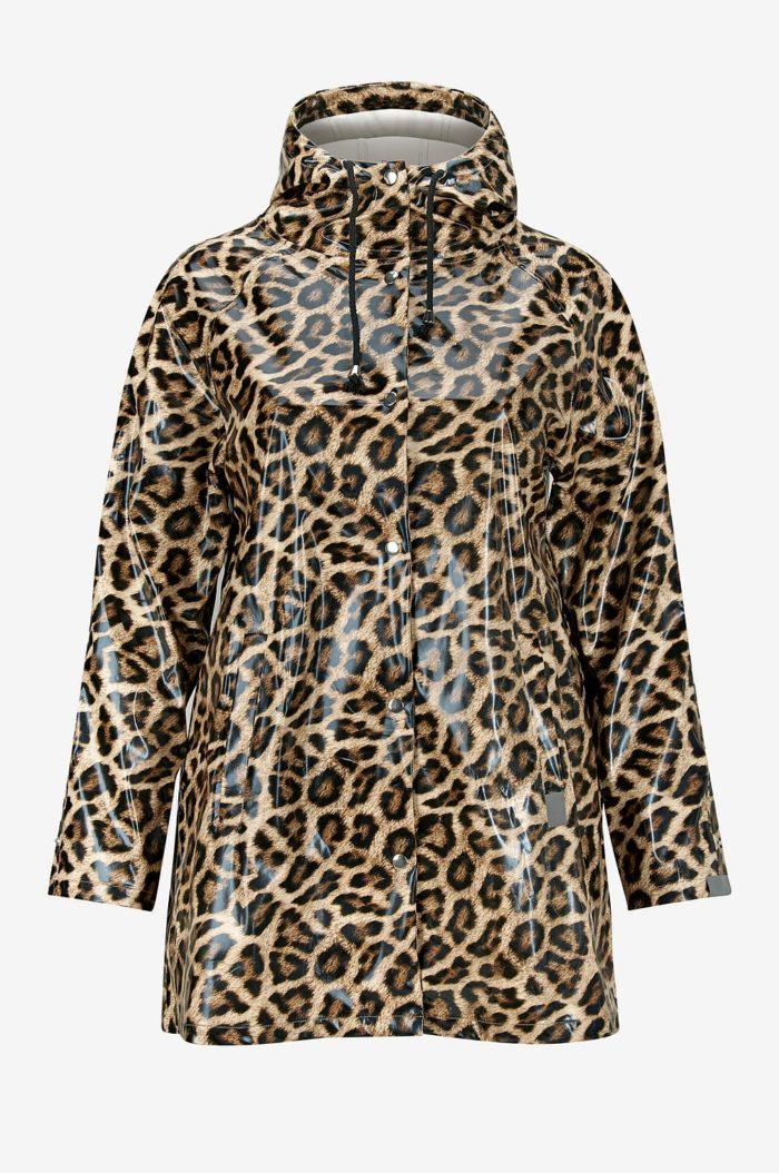 Leopardmönstrad regnjacka från Ellos
