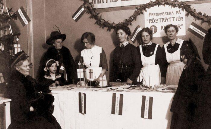 när fick kvinnor rösta i sverige