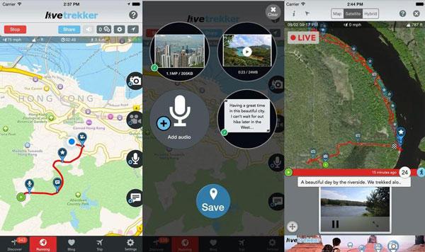 Följ hur du har gått och skapa en interaktiv resedagbok med appen Livetrekker.
