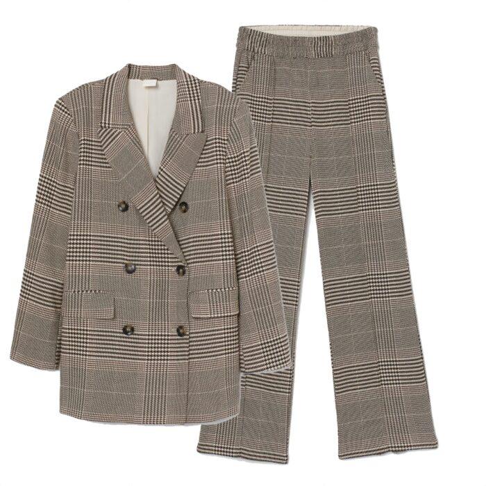 Rutig kostym från H&M
