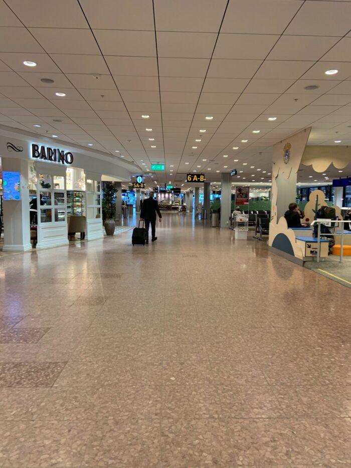 Arlanda i Stockholm är tomt