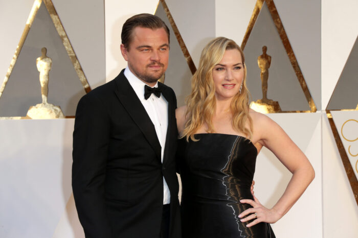 Kate Winslet och Leonardo DiCaprio på Oscarsgalan.