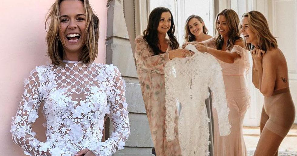 365c6a32e8a8 Margaux Dietz har gift sig – se hennes fantastiska brudklänning ...