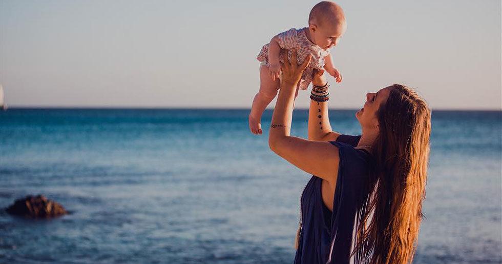 Yoga girl har blivit mamma