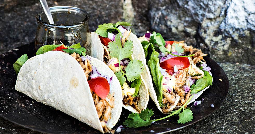 Recept: Tacos med pulled chicken