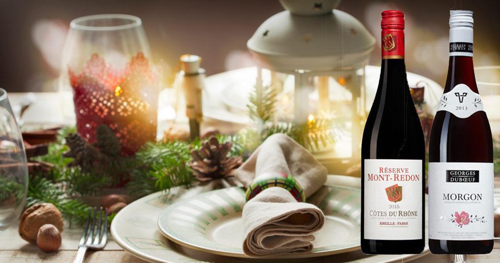 Rött vin till julbordet