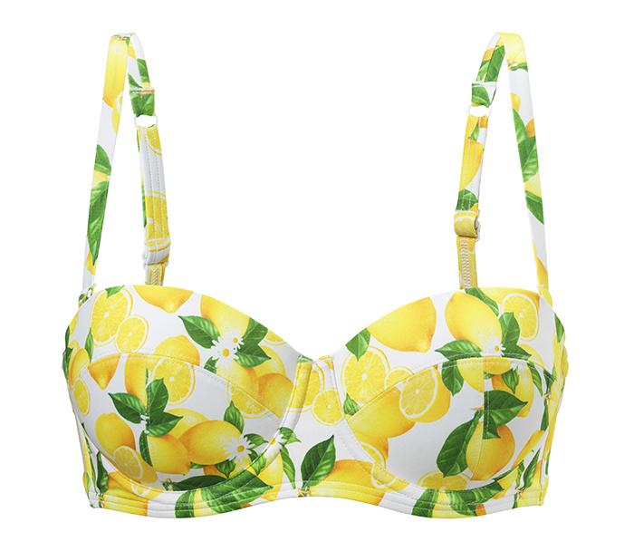 Bikinitopp med citronmönster från Twilfit