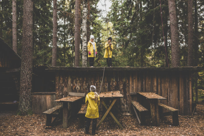 Joggarna kan ju halla till i skogen