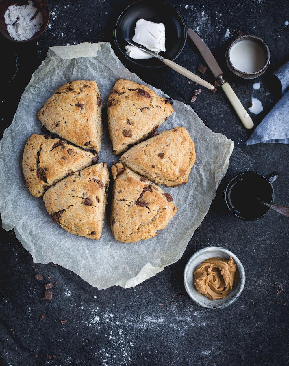 scones med choklad