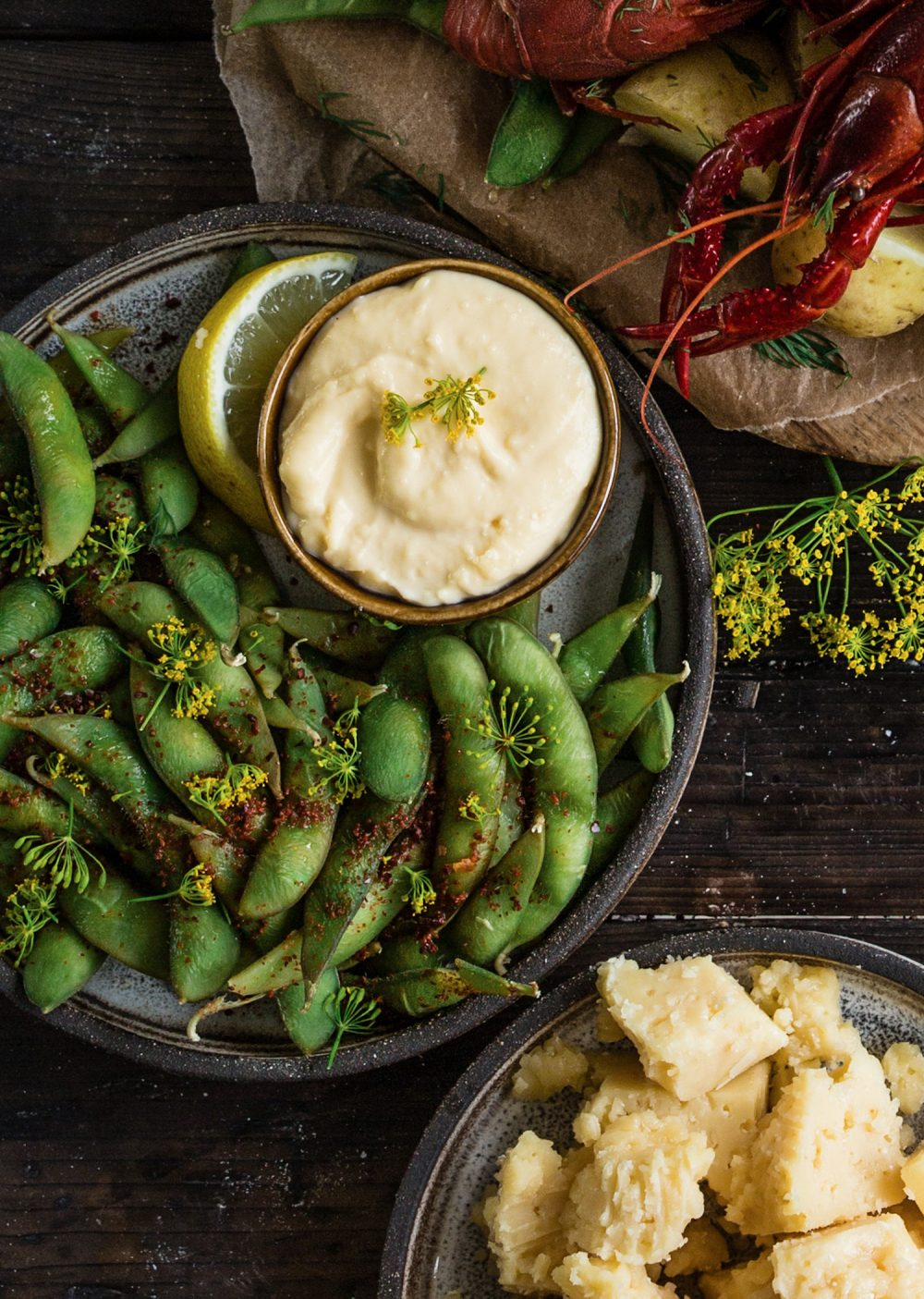 Edamamebönor med lime och chili